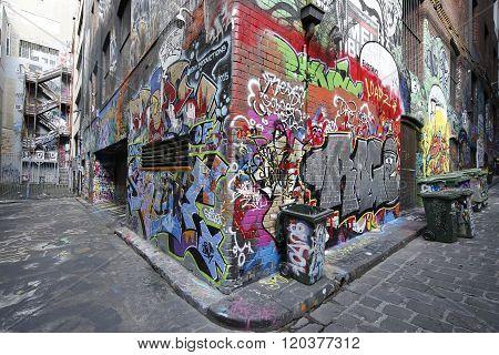 Graffiti art by KIL Productions at Hosier lane in Melbourne