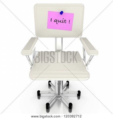 White Chair With Resignation Notice