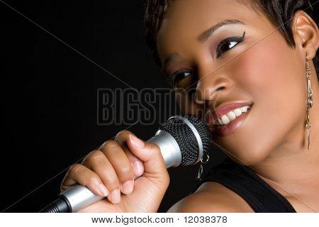 Black Woman Singing