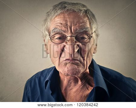 Disgusted grandfather