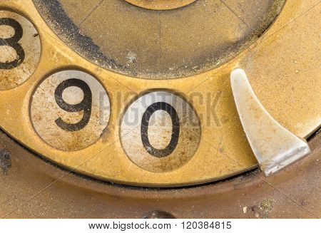 Close Up Of Vintage Phone Dial - 0