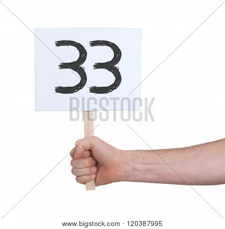 Sign With A Number, 33