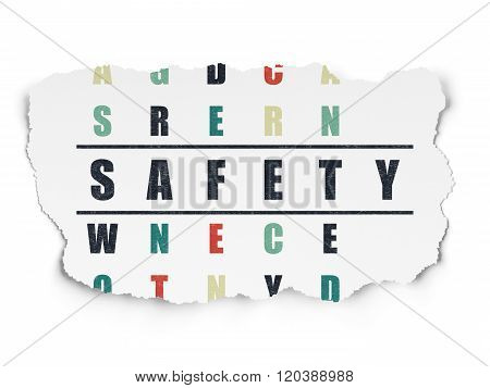 Privacy concept: Safety in Crossword Puzzle
