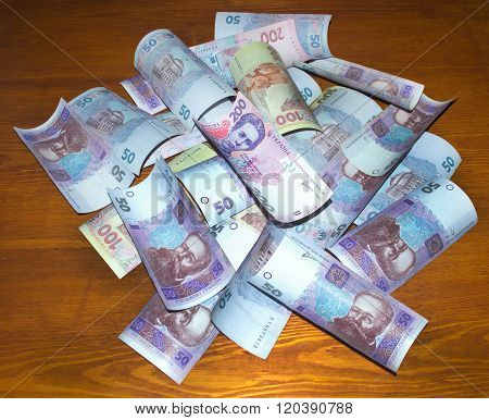 Different Ukrainian Money