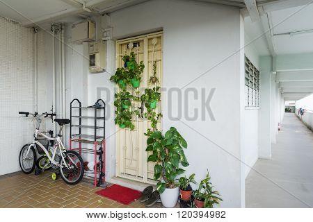 Apartment Unit And Corridor