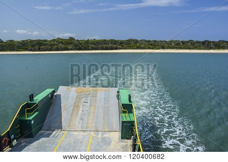 Ferry to Fraser Island, Queensland, Australia