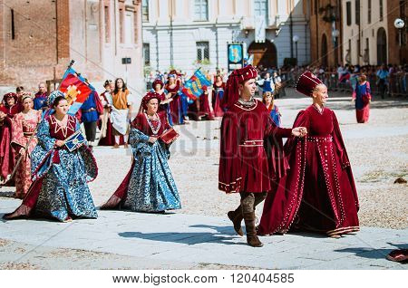 Medieval Nobility In Parade