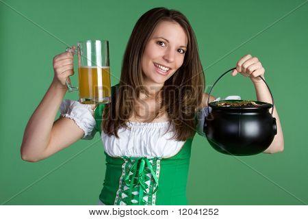 Saint Patricks Day Woman