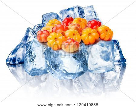 Frozen Cloudberries Isolated