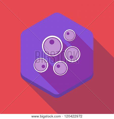 Long Shadow Hexagon Icon With Oocytes