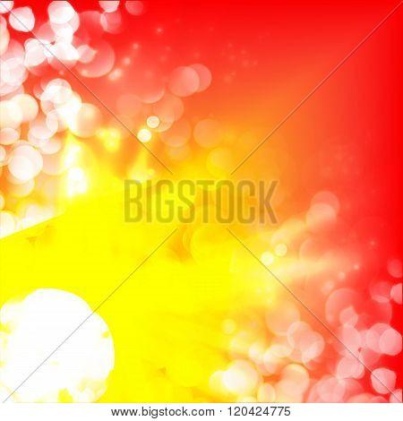 Shiny background with flares