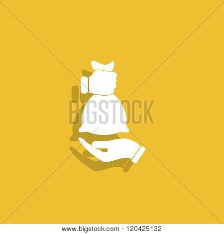 Hand And Bag Icon