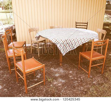 Picnic Table Vintage