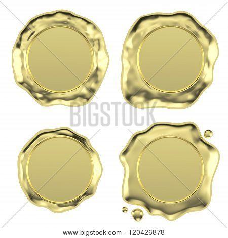 Gold Wax Seals Set