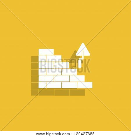 Bricks Icon. Flat