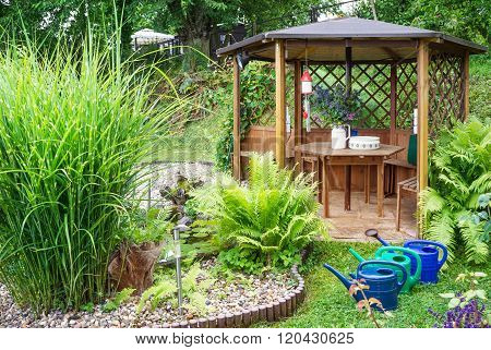 Garden Pavilion By The Pond