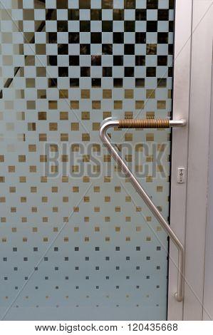 entrance door with doorbell and intercom
