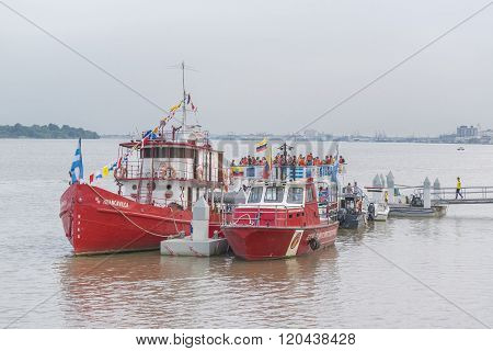 Touristic Boats At Guayas River In Guayaquil Ecuador
