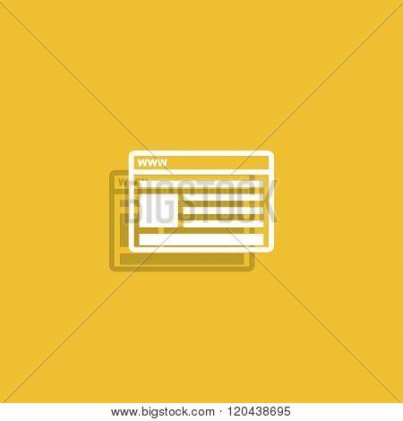 Vector Mockup Of Web Design Icon