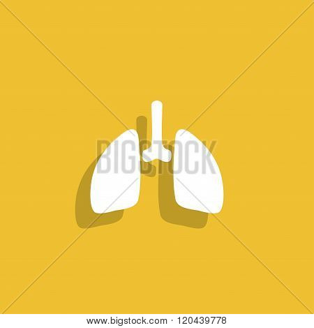 Lungs Icon. Flat