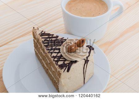 Mocha Cake With Almond And Coffee - Mocha Coffee Cake With Almond And Coffee