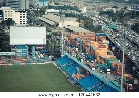 Pat Football Stadium Aerial View