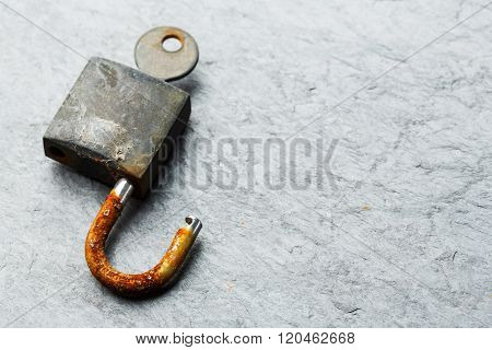 Old And Rusty Padlock