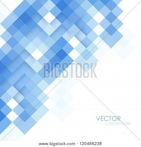 Abstract Square Blue Background. Vector Illustration