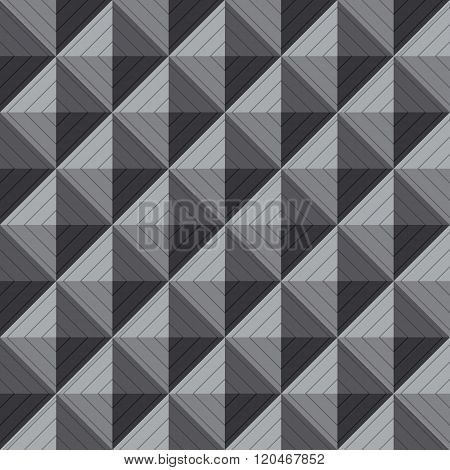 Illustration Of Greyscale Squre 3D Seamless Background