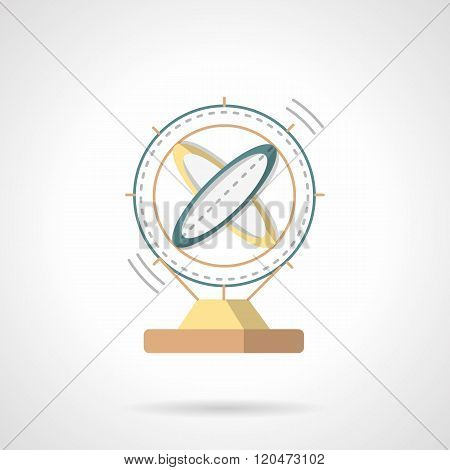 Magnetic model flat color design vector icon