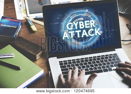 Cyber Attack Hacker Phishing Security System Concept