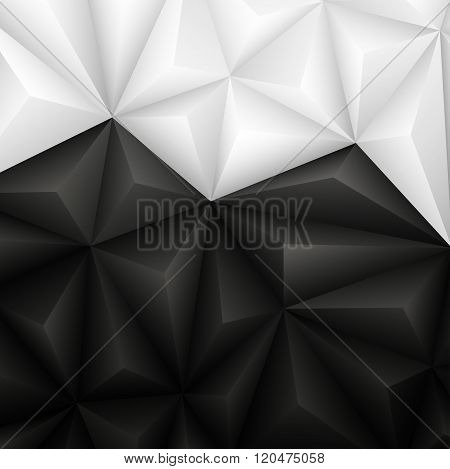 Abstract Geometrical Black And White Background. Vector Illustration