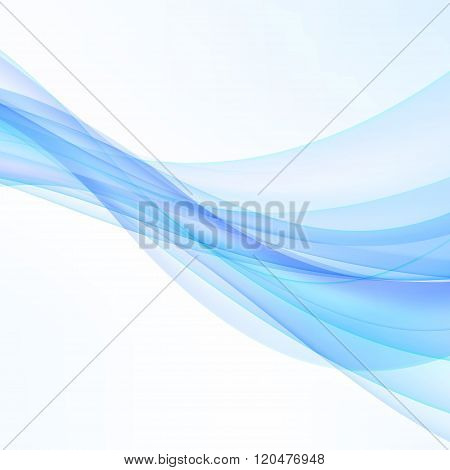 Blue Modern Abstract Lines Swoosh Certificate. Vector Illustration