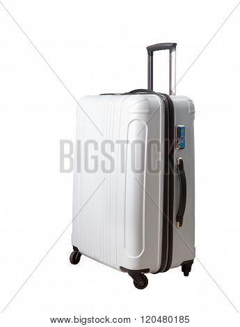 Traveling Suitcase ,luggage Isolated White Background