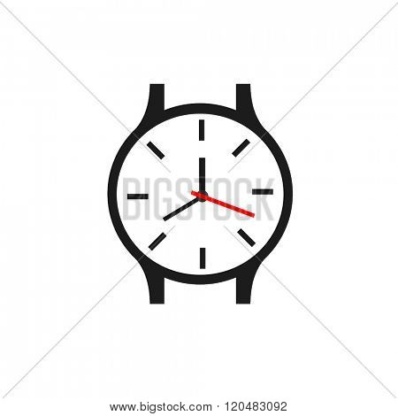 simple watch vector showing time on white background