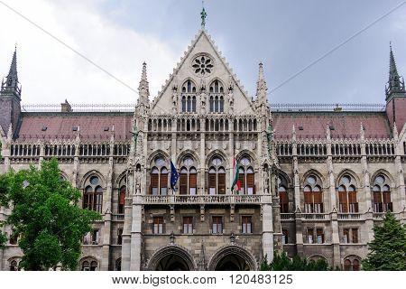 Budapest Parliament Portico