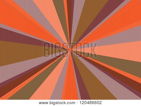 Rays Radius Background Center Orange