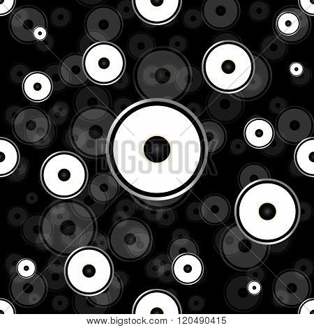 Seamless wallpaper background speakers sound