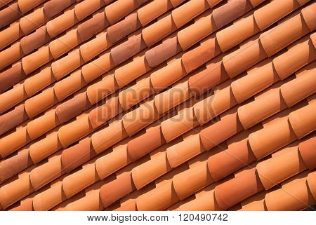Red Tiled Roof Background