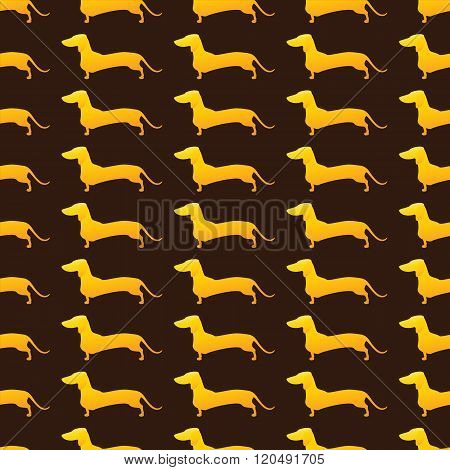 Background With Golden Dachshunds
