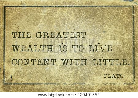 Great Wealth Plato