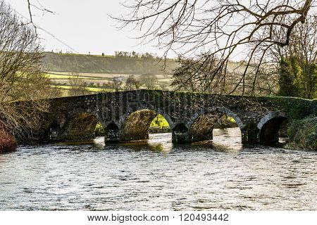Ancient bridge over the Derry river in Ireland