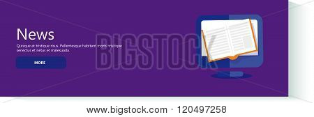 Vector illustration. News, Newsletter and information. Business and market news. Financial report.