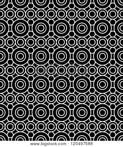 Vector modern seamless geometry pattern circles black and white abstract