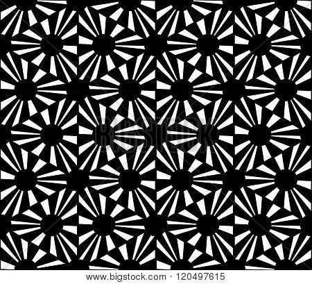 Vector modern seamless geometry pattern polka black and white abstract