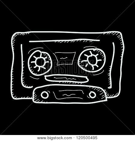 Simple Doodle Of A Cassette Tape