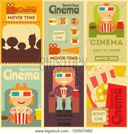 Cinema Posters Set