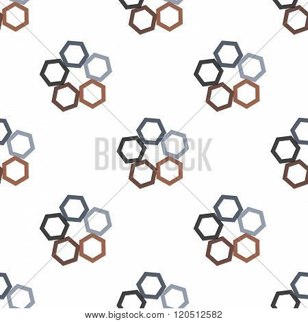 Seamless Colorful Abstract Pattern From Repetitive Concentric Hexagons