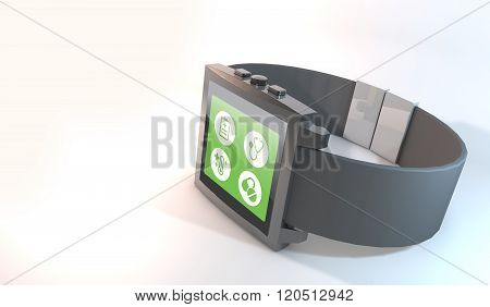 Concept By Smart Watch About Medical