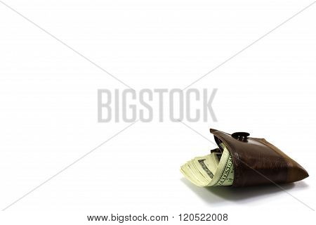 Leather Wallet Full Of Money